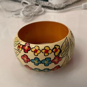 Bracelet wooden hand painted lacquered
